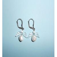 Perly říční bílé- Náušnice
