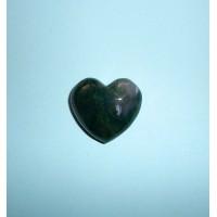 Achát mechový-Hmatka srdce