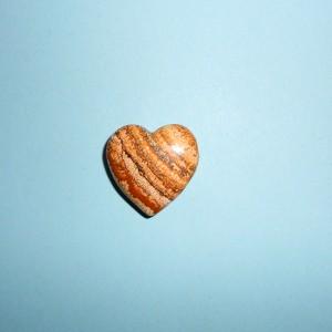 Jaspis Obrázkový- Vrtané Srdce