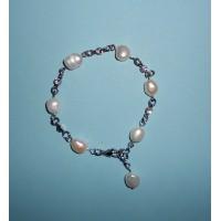 Perly říční se zirkony- Náramek