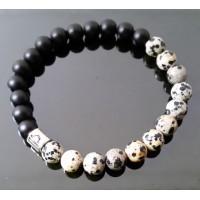 Pánský náramek Jaspis dalmatin