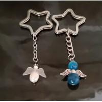 Přívěsek na klíče 2ks Andělé (modrá)